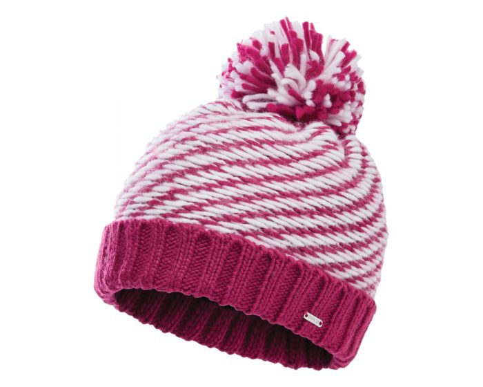 Dare 2b - Womens Kudos Fleece Lined Knit Bobble Beanie Active Pink White