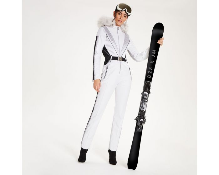 Dare 2b - Julien Macdonald - Womens Grandious Waterproof Ski Suit White