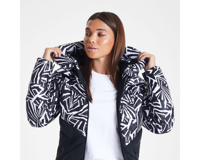 Dare 2b X Julien Macdonald - Womens Magisterial Insulated Ski Jacket Monochrome Zebra Print