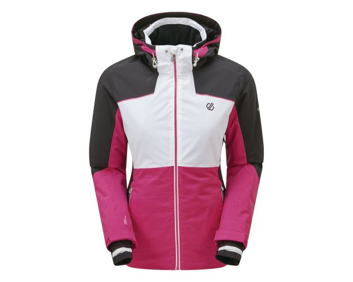 Dare 2b - Womens Flourish Waterproof Insulated Hooded Ski Jacket Active Pink White