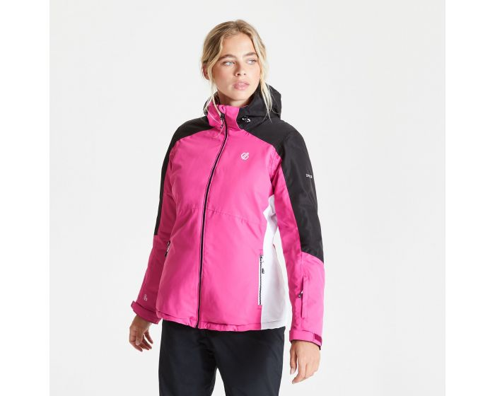 Dare 2b - Womens Radiate Waterproof Insulated Hooded Ski Jacket Active Pink Black
