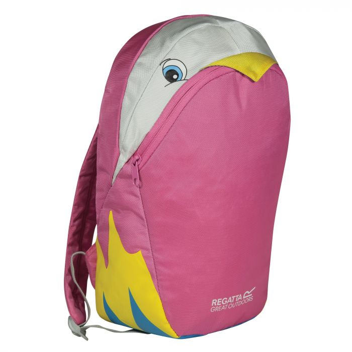 Kids Zepher Animal Daypack Rucksack Parrot Pink