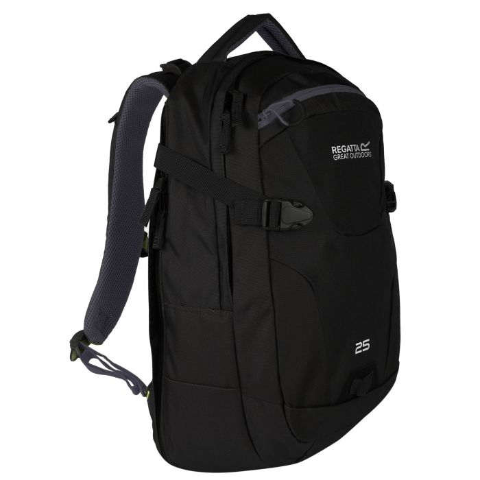 Paladen 25 Litre Laptop Backpack Rucksack Black Ebony