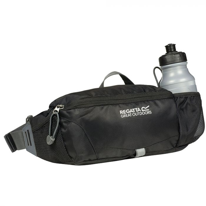 Quito Hardwearing Bottle Holder Hip Pack Black