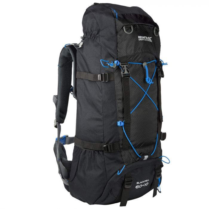 Blackfell II 60 + 10 Litre Expandable Backpack Black French Blue