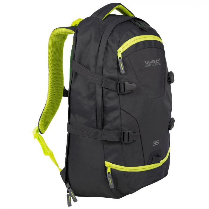 Paladen 35 Litre Laptop Backpack Rucksack Ebony Neon Spring