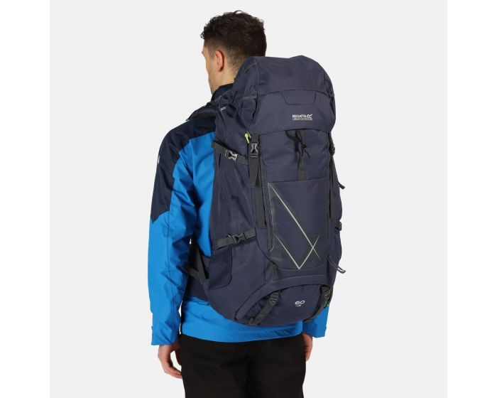 Kota Expedition 60+15L Expandable Rucksack Navy Blazer