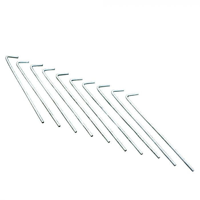 10 Pack 8 Inch Roundwire Steel Pegs