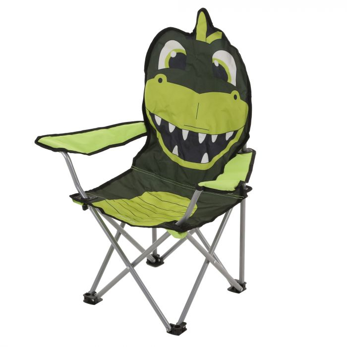 Excellent Kids Animal Lightweight Folding Camping Chair Dino Green Theyellowbook Wood Chair Design Ideas Theyellowbookinfo