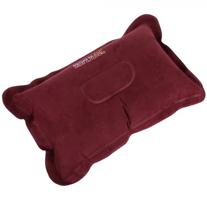 Inflatable Soft Touch Pillow Burgundy