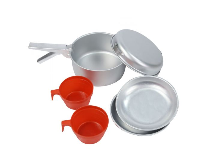 2 Person Aluminium Cookset Grey