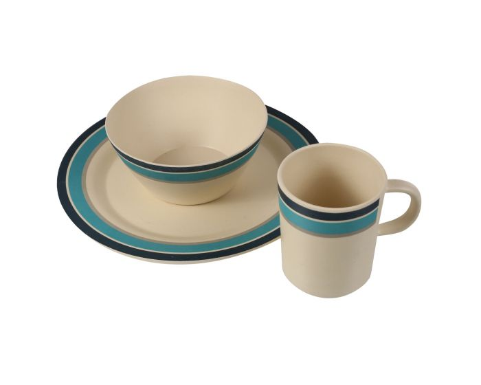 Bamboo Crockery Set Of 2 Multi