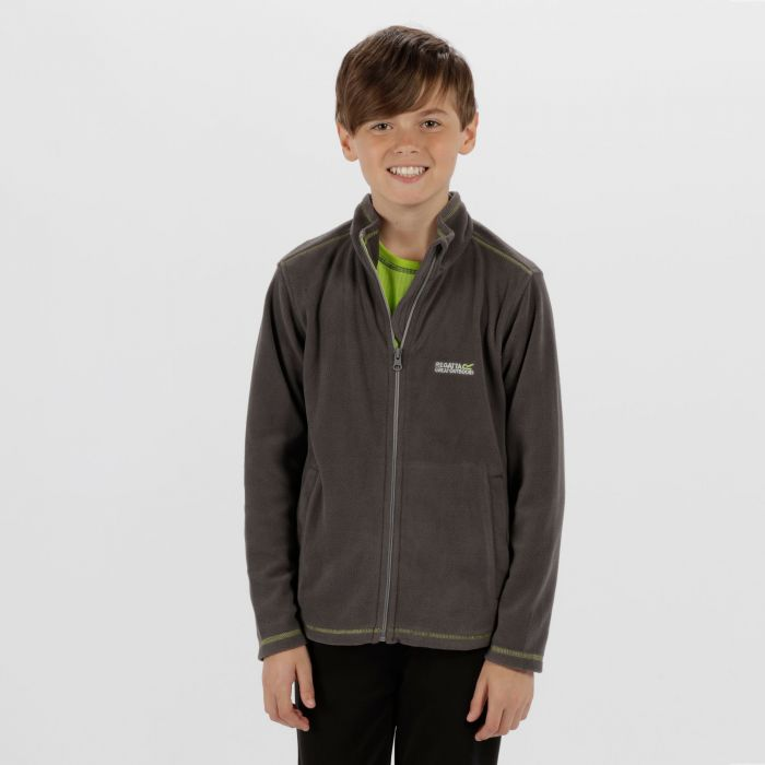 King II Lightweight Full Zip Fleece Seal Grey