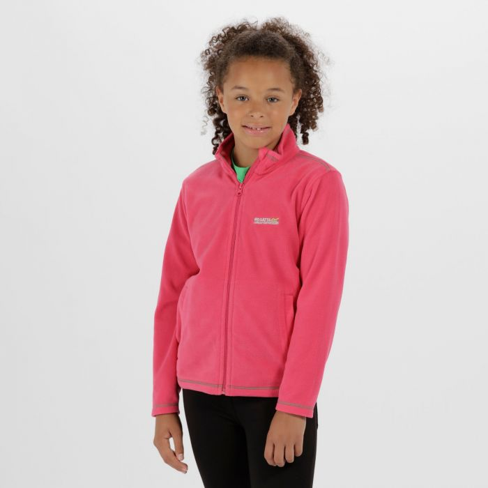 King II Lightweight Full Zip Fleece Hot Pink
