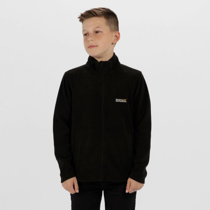 Kids King II Lightweight Full Zip Fleece Black