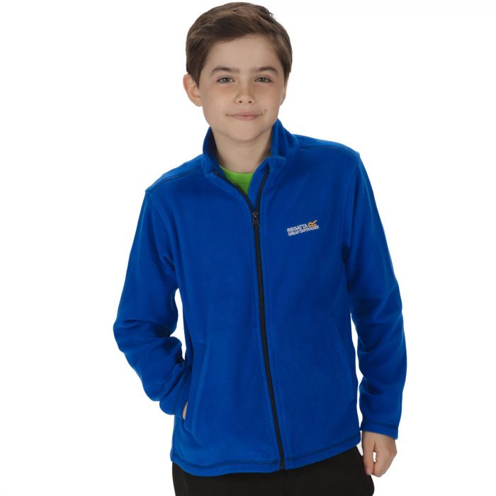 Kids King II Lightweight Full Zip Fleece Surfspray Blue Navy