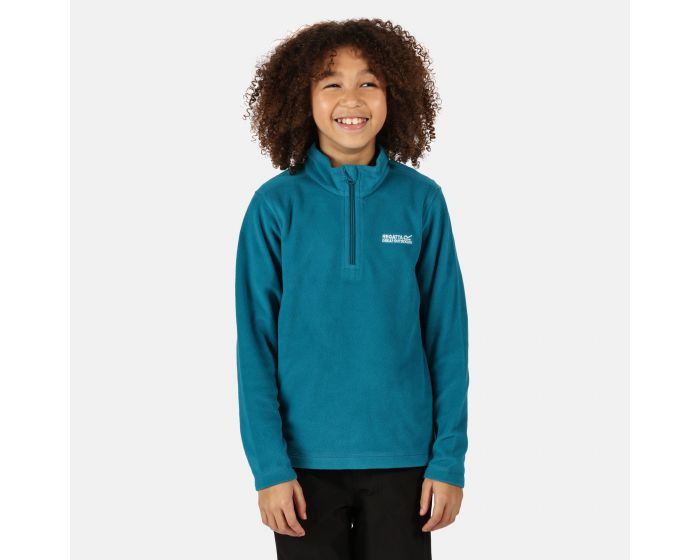 Regatta Boys /& Girls Hot Shot II Lightweight Half Zip Fleece Top Navy Age 9-10