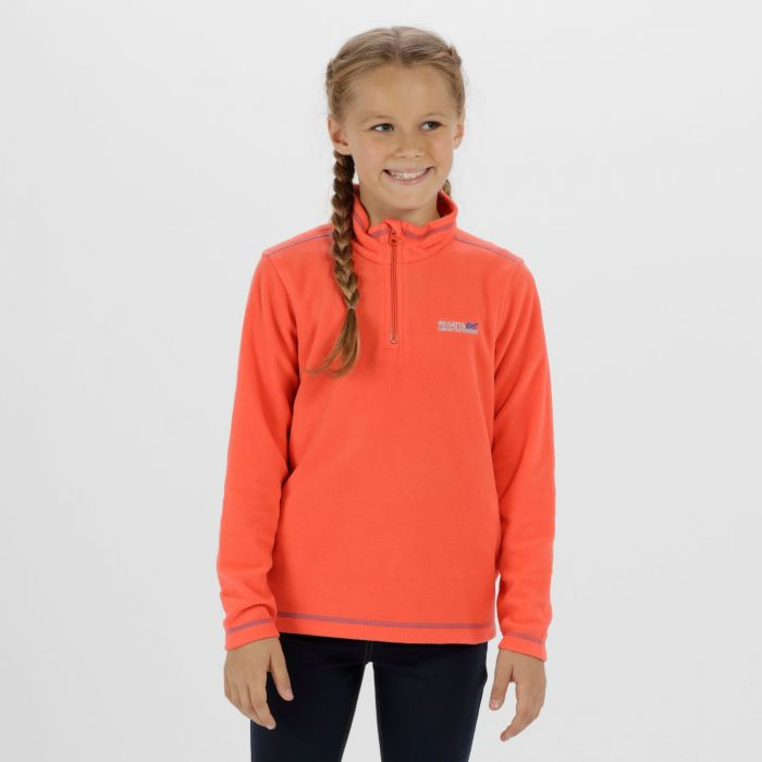 Hot Shot II Half Zip Lightweight Fleece Neon Peach