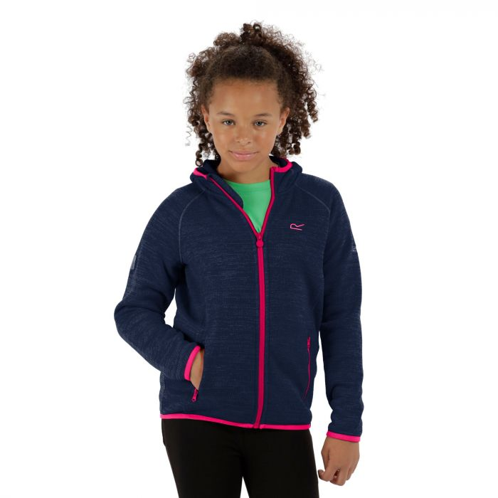 Dissolver Fleece Navy Hot Pink