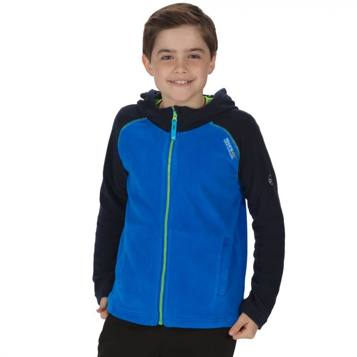 Kids Upflow Lightweight Hooded Fleece Oxford Blue Navy