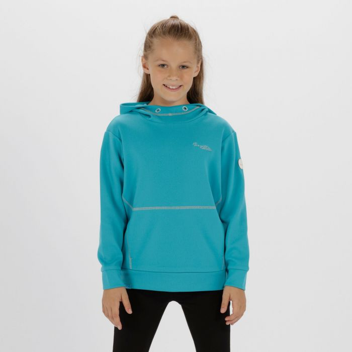 Kids Kalanie Hooded Fleece Aqua