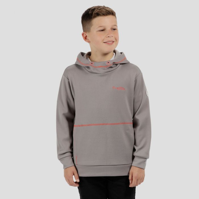 Kids Kalanie Hooded Fleece Rock Grey