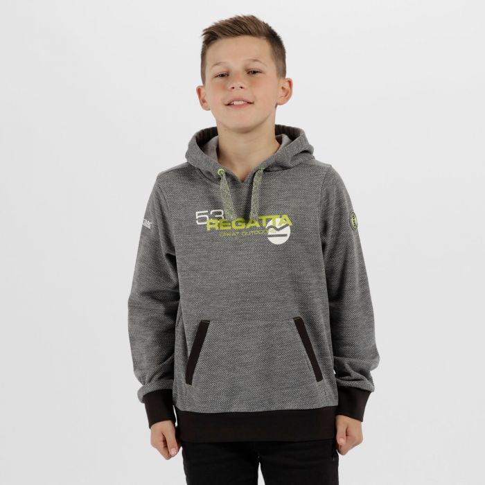 Kids Farrel Marl Fleece Rock Grey