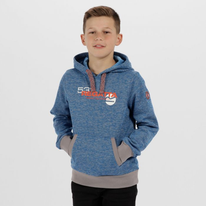 Kids Farrel Marl Fleece Skydiver Blue