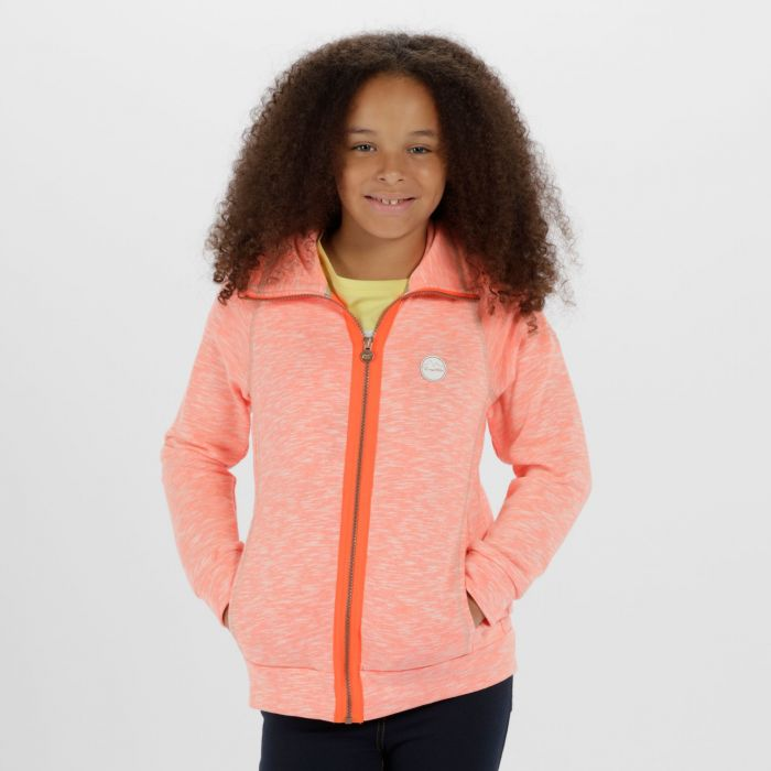 Fonda Cotton Marl Texture Fleece Fiery Coral