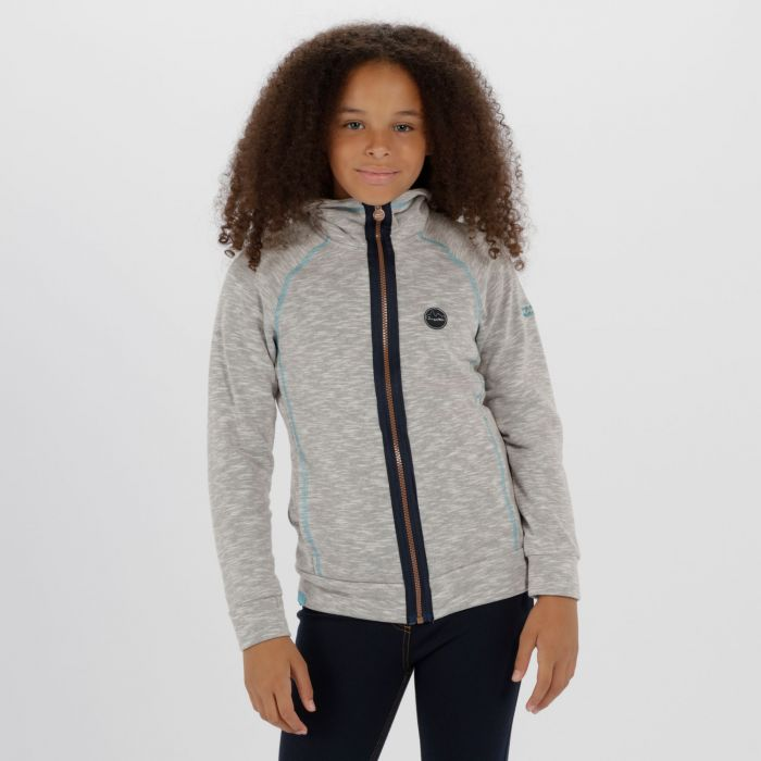 Kids Fonda Cotton Marl Texture Fleece Rock Grey
