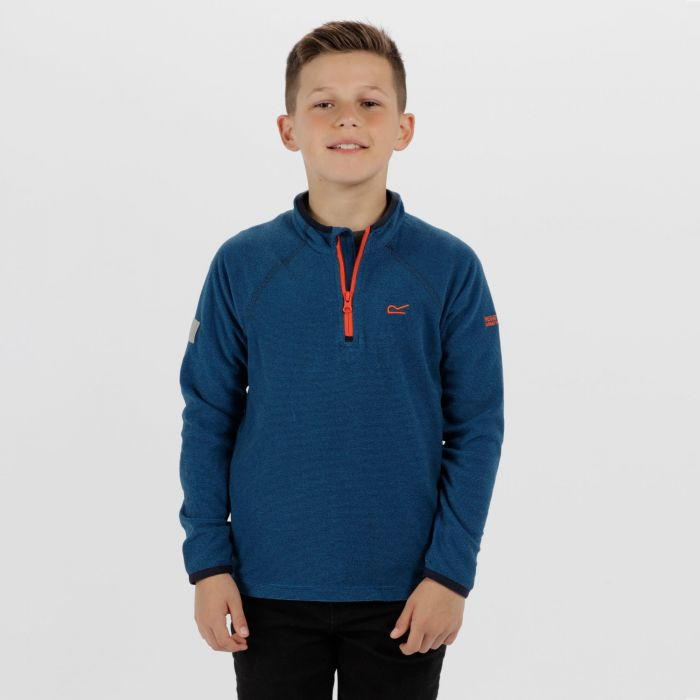 Kids Loco Half Zip Fleece Oxford Blue