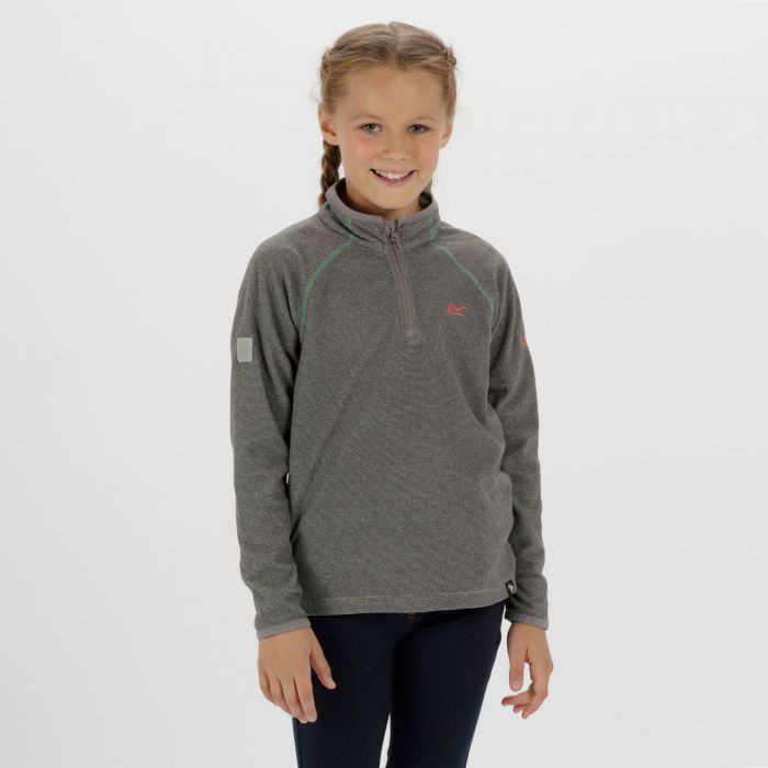Kids Loco Half Zip Fleece Light Steel