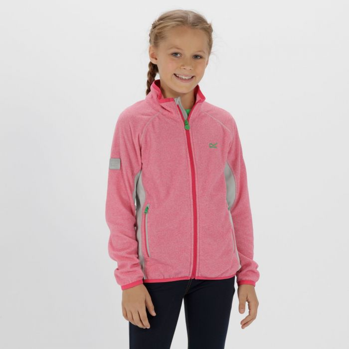 Kids Pira Full Zip Mini Stripe Fleece Cabaret Light Steel