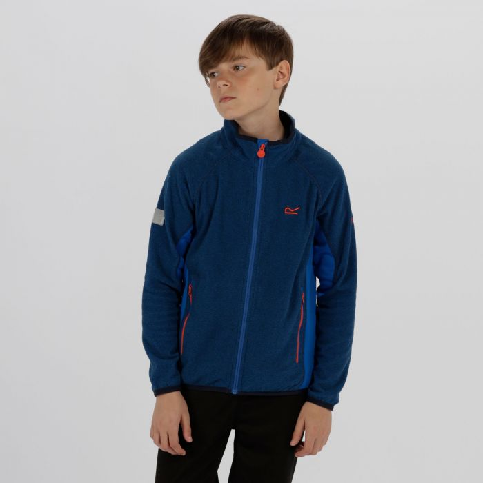 Kids Pira Full Zip Mini Stripe Fleece Oxford Blue