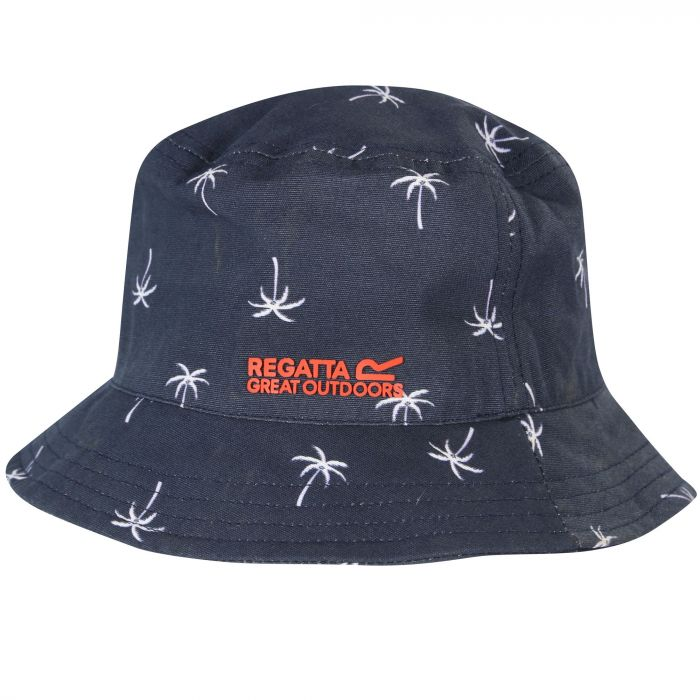 b565c850 Kids' Crow Coolweave Cotton Canvas Hat Navy | Regatta - Great Outdoors