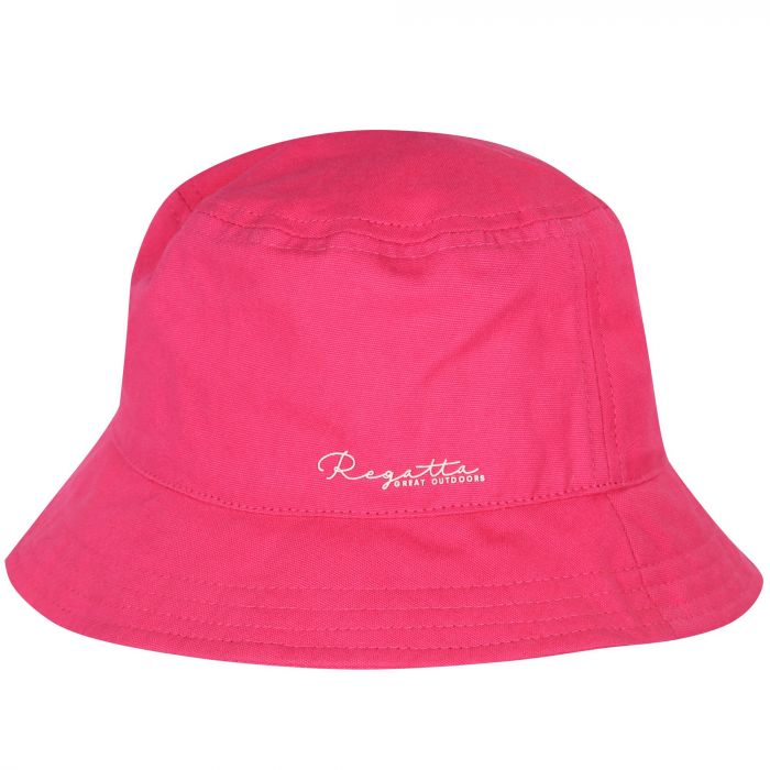 Kids Crow Cool Weave Cotton Canvas Hat Hot Pink