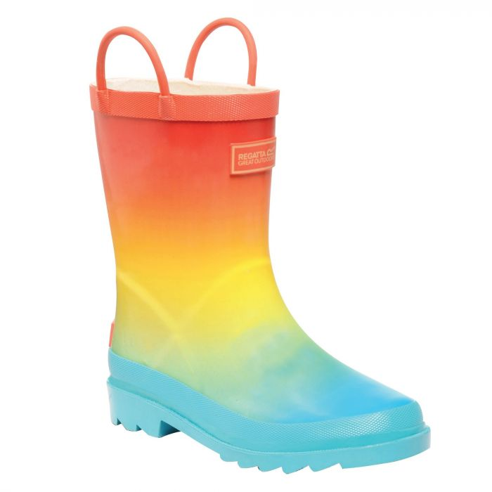 Kids Minnow Wellington Boots Aqua Ombre