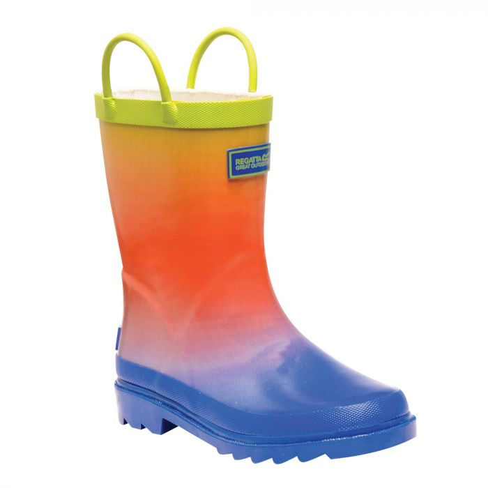 Kids Minnow Wellington Boots Blue Ombre