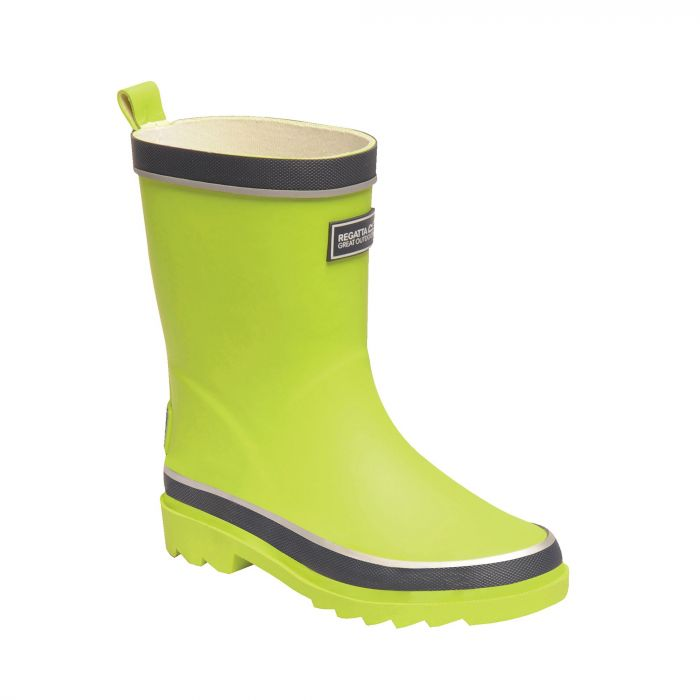 Kids Foxfire Wellingtons Lime Punch Navy