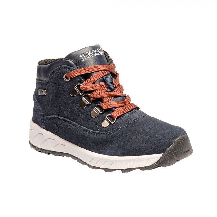 Grimshaw Suede Mid Walking Boots Navy
