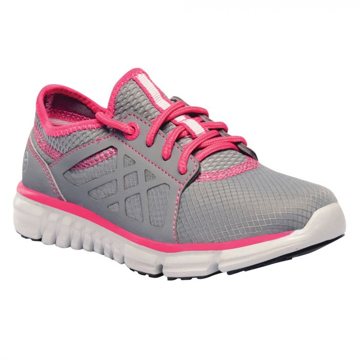 Kids Marine Sport Walking Shoes Rock Grey Hot Pink