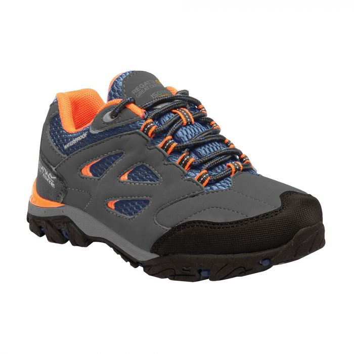 Kids Holcombe Low Walking Shoes Briar Blaze Orange