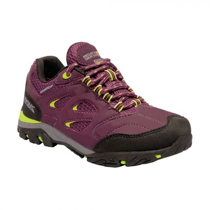 Kids Holcombe Low Walking Shoes Italian Plum Lime Punch