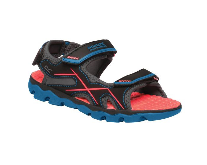 Kids Kota Drift Sandals Petrol Blue Fiery Coral