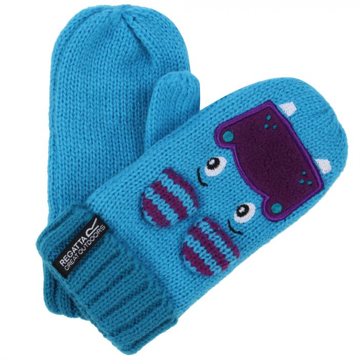 24c7098693d Kids Animally Mitts II Hippo Gloves Aqua Winberry