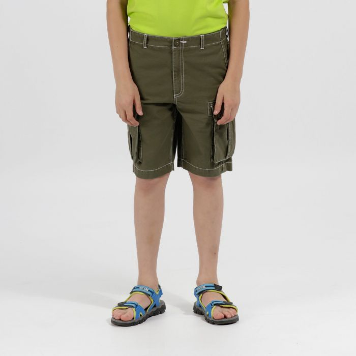 Kids Shorefire Cool Weave Cotton Canvas Shorts Ivy Green