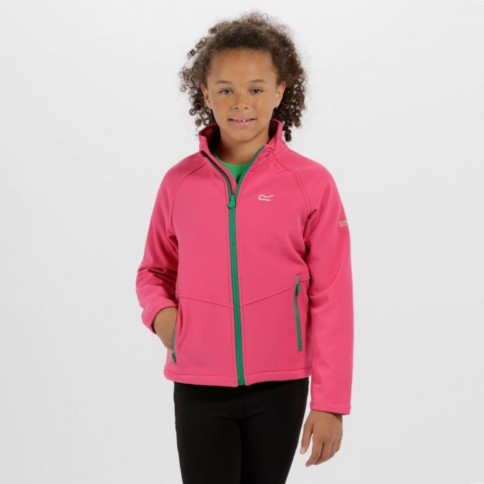 Kids Varro Woven Stretch Softshell Jacket Hot Pink