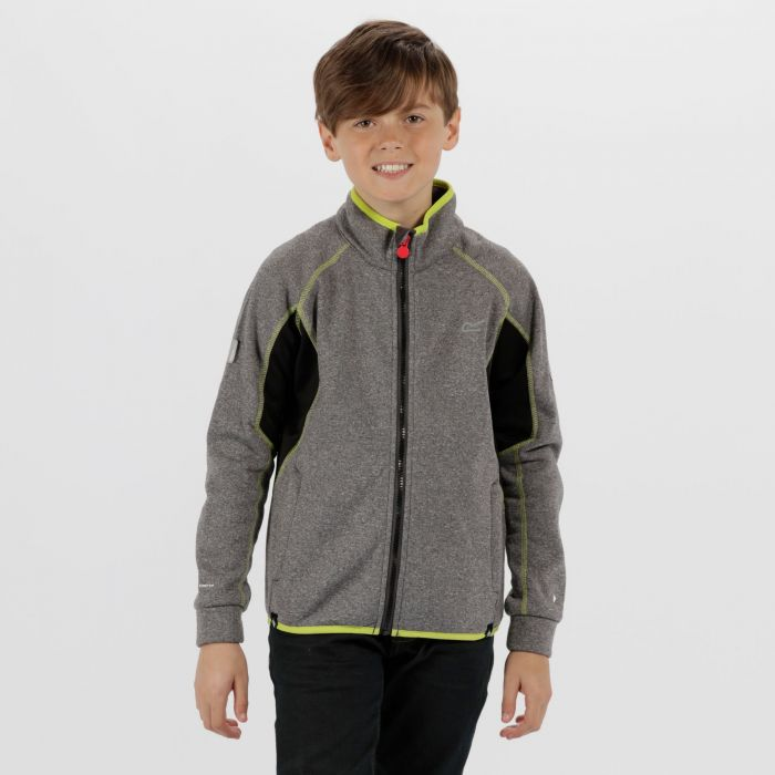 Kids Limit II Knitted Stretch Softshell Jacket Seal Grey Black