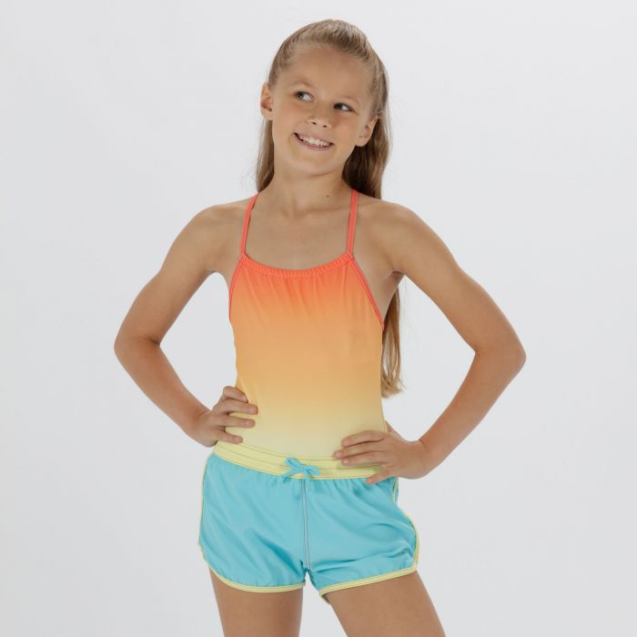 Kids Frilla Swimming Shorts Horizon Lime Fizz