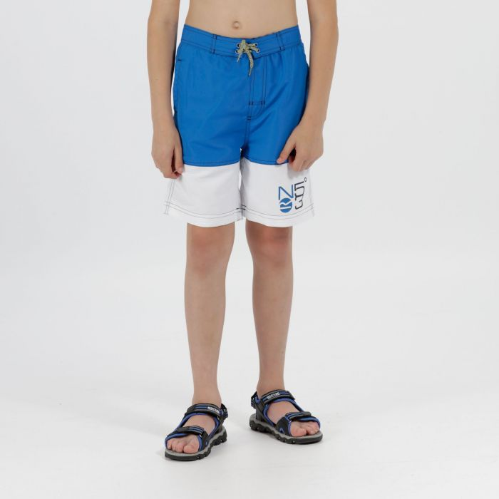 Kids Shaul Swimming Shorts Skydiver Blue White